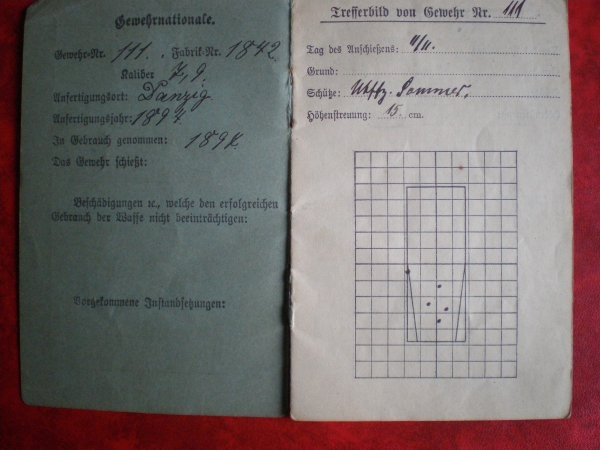 RENTREE MILITÄRPASS & SCHIEßBUCH ALLEMANDS (2) 165 IR 1ère K