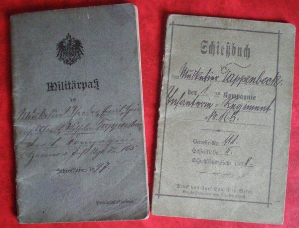 RENTREE MILITÄRPASS & SCHIEßBUCH ALLEMANDS (1) 165 IR 1ère K. HANNOVRICHEN