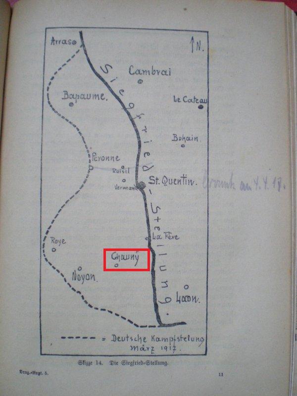 ENTREE AUSWEISS KOMMANDANTUR CHAUNY 1917