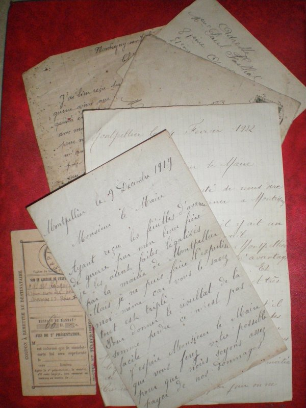 DOCUMENTS DE FAMILLE WW.1 MARNE.