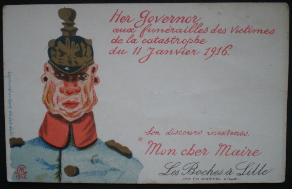 RENTREE CPA CATASTROPHE DE LILLE 1916