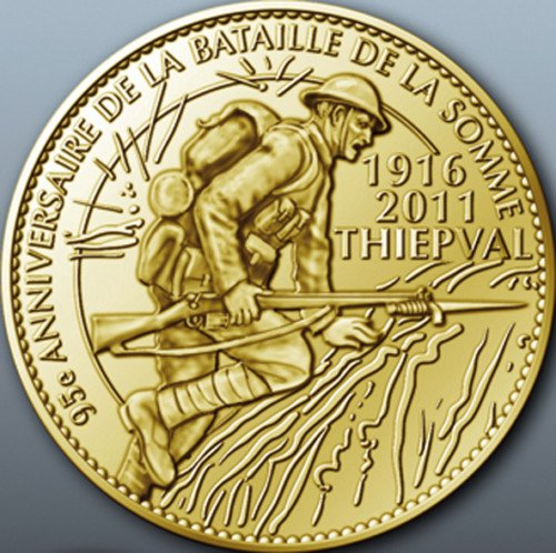 RENTREE MEDAILLE COMMEMORATIVE DE TABLE 1916/2011 THIEPVAL SOMME