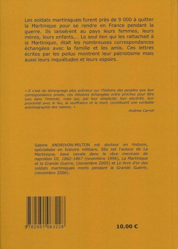 """RECEPTION DE MON LIVRE """"LETTRES DE POILUS MARTINIQUAIS"""""""