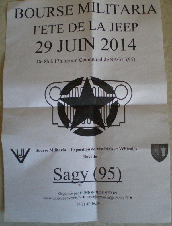 BOURSE MILITARIA FETE DE LA JEEP A SAGY (95). 29.06.2014.