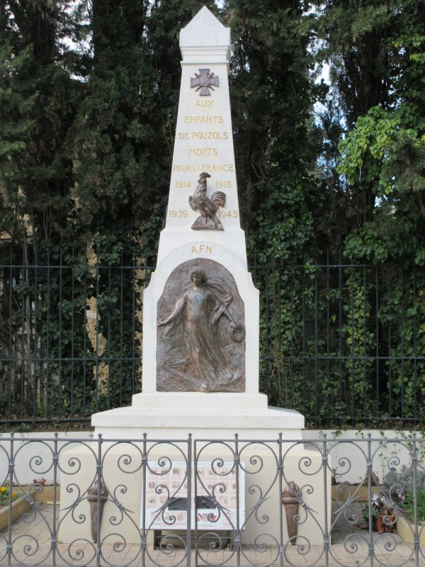 MONUMENTS AUX MORTS: Agel(34) et Pouzols(11).