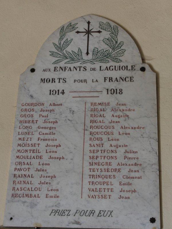 MONUMENT LAGUIOLE (AVEYRON)