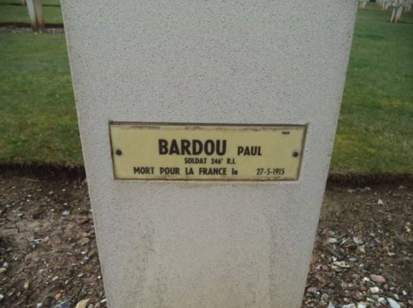 BARDOU PAUL ALBERT (GRAND-ONCLE)