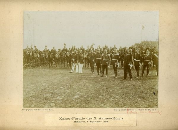RENTREE MEDAILLE KAISER MANOEUVRE 1898