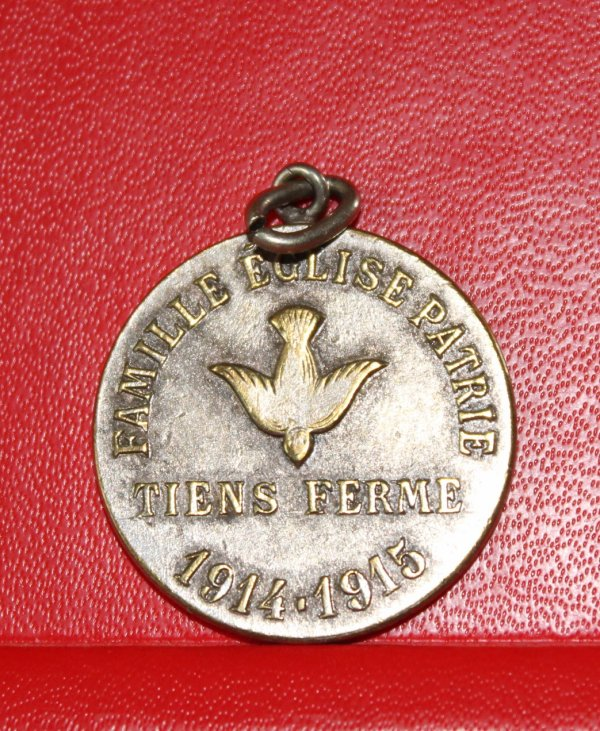 RENTREE MEDAILLE 1914/1915 PROTESTANTE