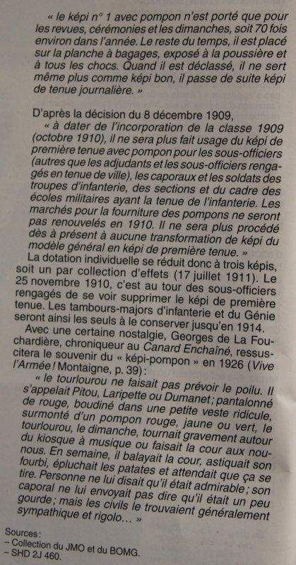 RENTREE KEPI POMPON 1886 GRANDE TENUE.