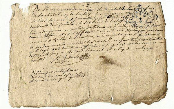INTERLUDE DOCUMENT DE FAMILLE 1739 BRETAGNE CÔTES D'ARMOR