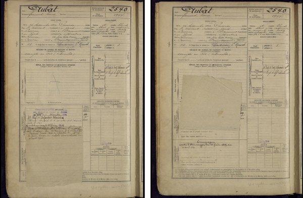 RENTREE PLAQUE NOMINATIVE 1916.