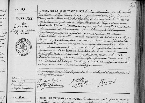 POUR NONO BRESSOUX/CARON 1895