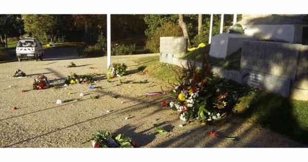 Chambéry : les gerbes déposées le 11 novembre détruites