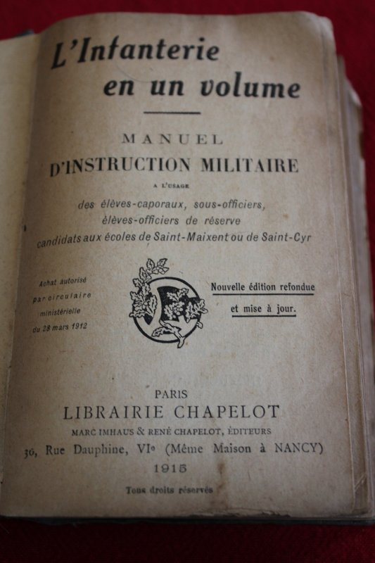 MANUEL INSTRUCTION MILITAIRE 1915