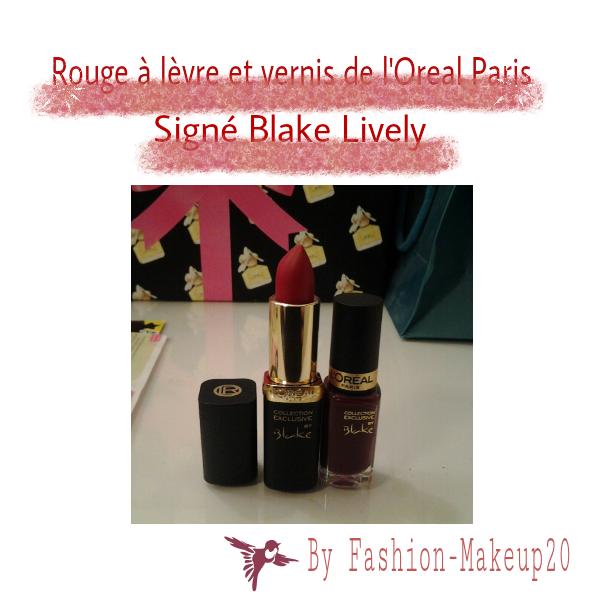 Rouge à lèvre et vernis de l'Oreal Paris signé Blake Lively