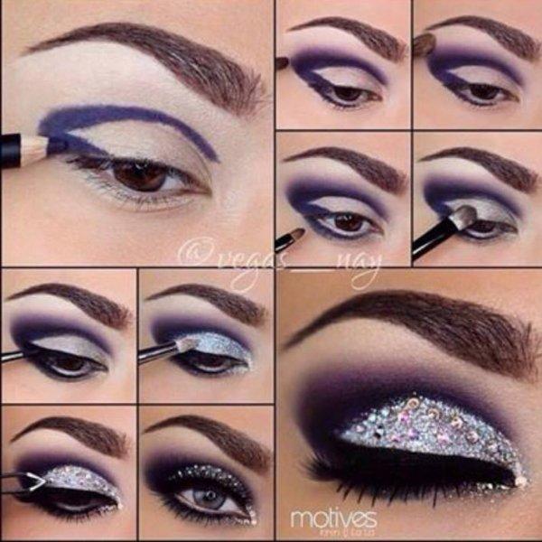 Maquillage des yeux .