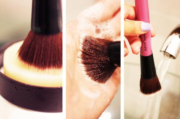 Nettoyez vos pinceaux de maquillage sans les abîmer
