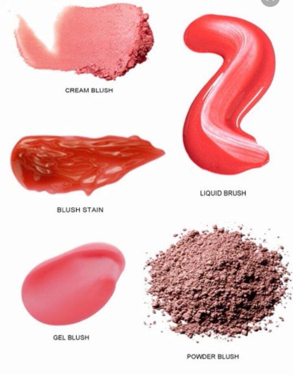 Les plusieur matières de blush