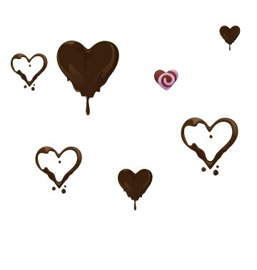 Coeur en chocolat ...