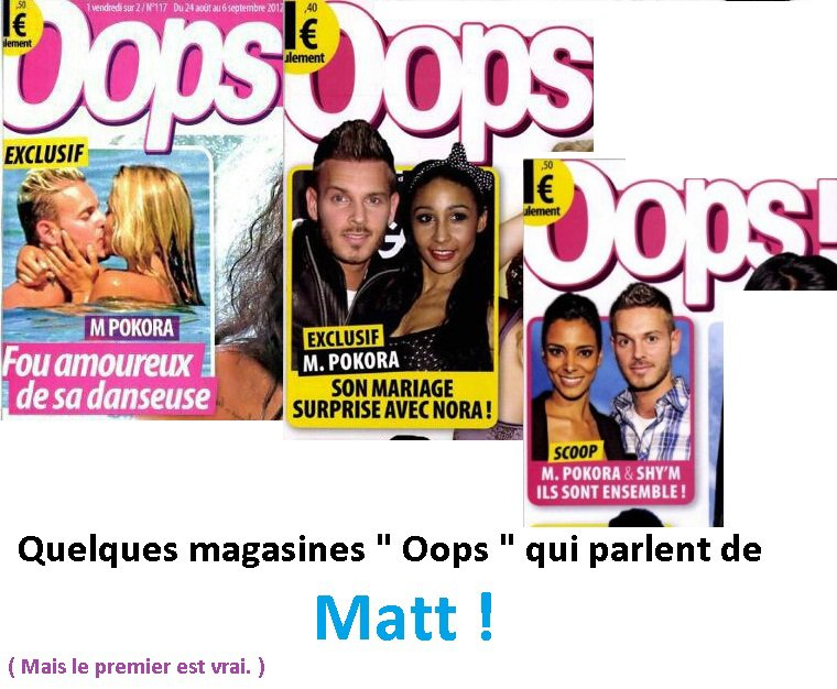 """Magasine """" Oops """" avec Matt !"""