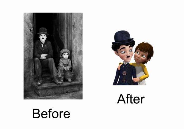 Chaplin & the kid