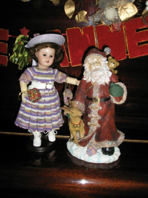 Bleuette et le père Noël.