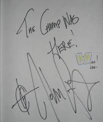 mon SUPER autographe du CHAMP :)))