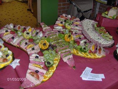 Papillon de charcuterie buffet froid - Presentation buffet froid deco ...