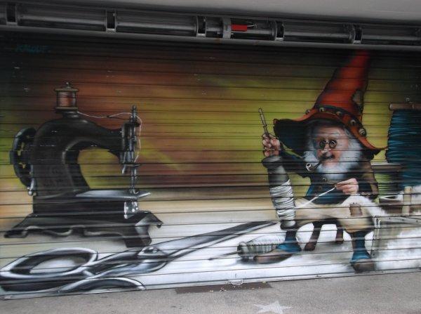 Un superbe graffiti aperçu à Nevers