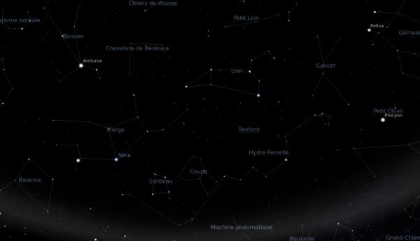 Le ciel à 21h30 le 4/06/2013
