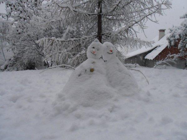 deux bonhomme de neige
