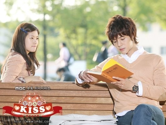 Playful kiss!