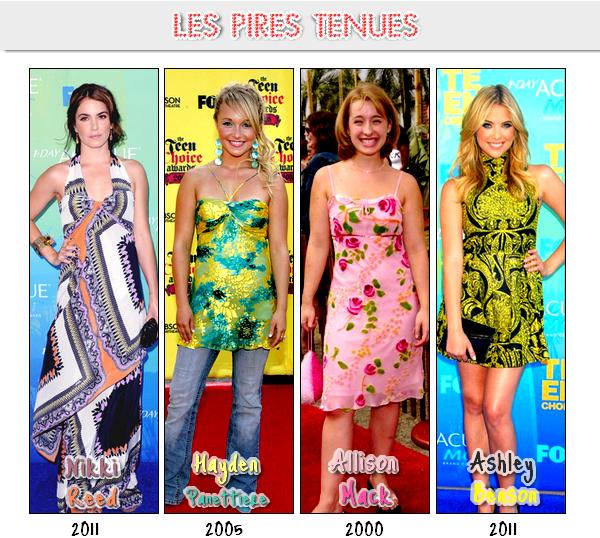 __+_____Article numéro Onze._______________Les stars aux Teen Choice Awards ____________Piix : Peoples ♥__________mega offre_-__