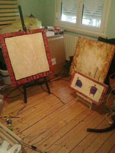 tableaux en préparation
