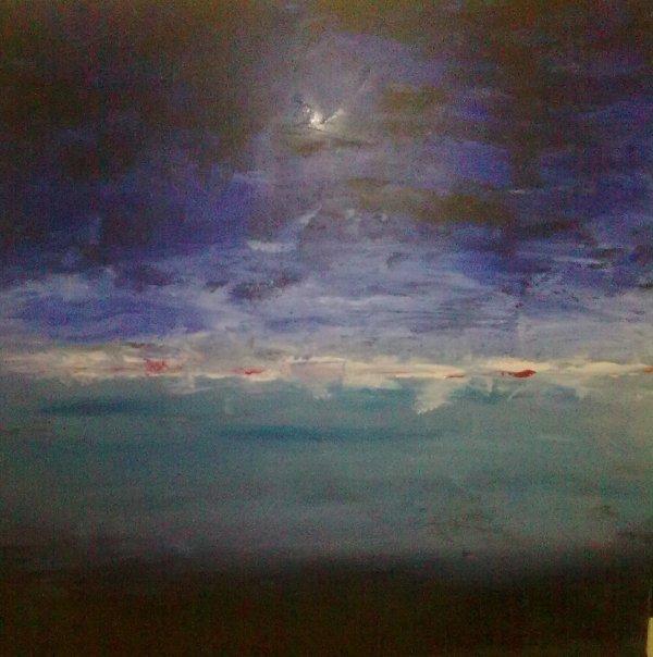 Paysage Abstrait 70x70 cm