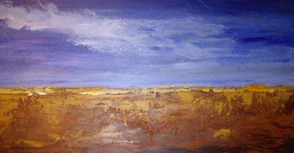 paysage Abstrait 60x30cm
