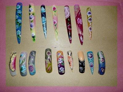 capsules nail art 3d one stroke fleur d ongle ardres