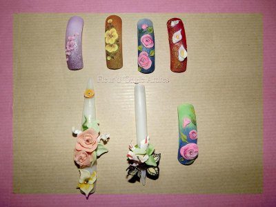 capsules nail art 3d one stroke fleur d ongle ardres
