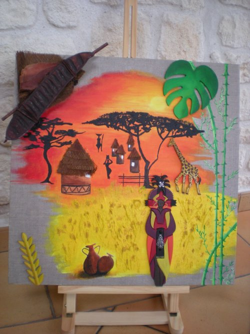 N°4 toile Afriique