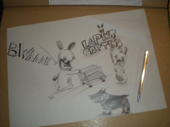 les lapins crétins !! =D (quand on pense a eux  XD
