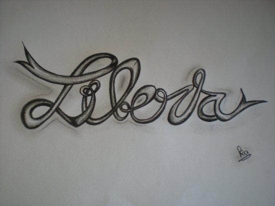 "dessin de tatouage ""liberta"""