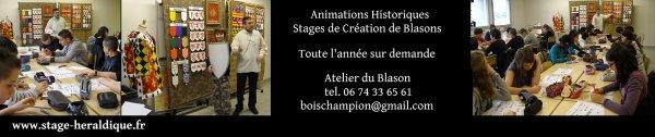 Stage Animation Création de Blasons