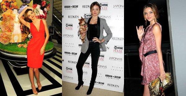 3 tenues de Miranda Kerr, Top, Bof ou Flop? Perso, je les aime toutes! Top général! :D