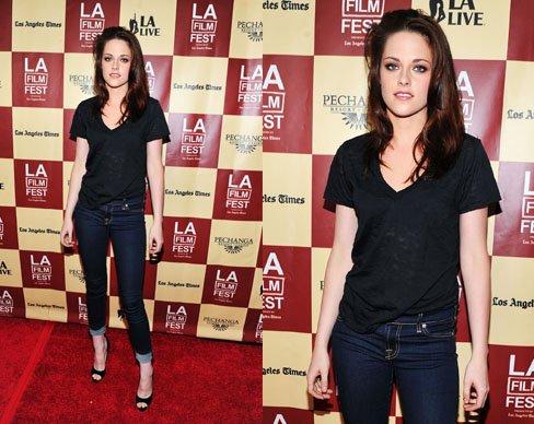 Le look Jean-Tshirt? En version Day pour Kristen et Night pour Selena :)