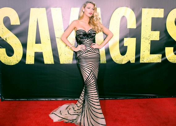 """Blake Lively à la première du film """"Savages"""" dans une robe Zuhair Murad : TOP, BOF, ou FLOP ? :)"""