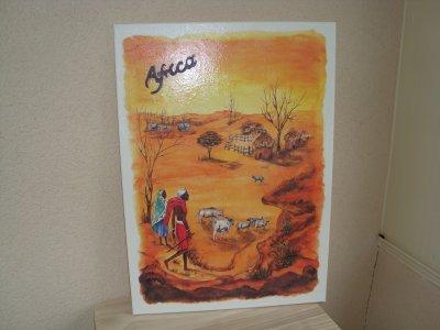 une série de tableaux africains