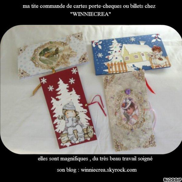 COMMANDE CARTE PORTE-CHEQUES OU BILLETS