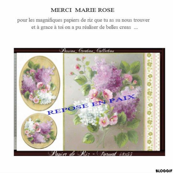 UNE  PENSEE  POUR  MARIE ROSE