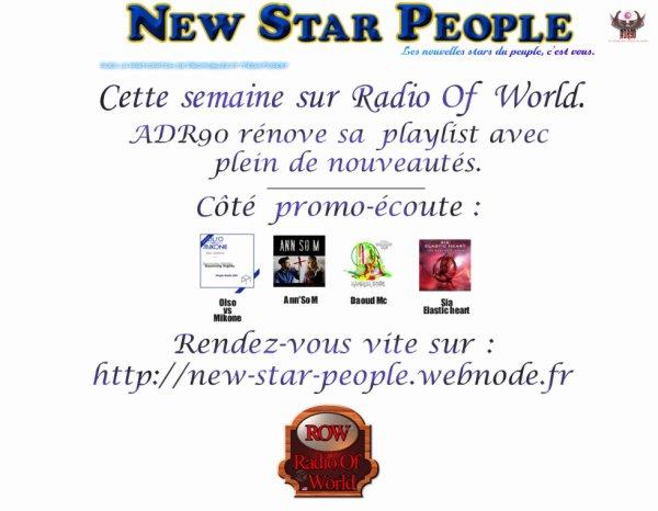 Cette semaine sur Radio Of World